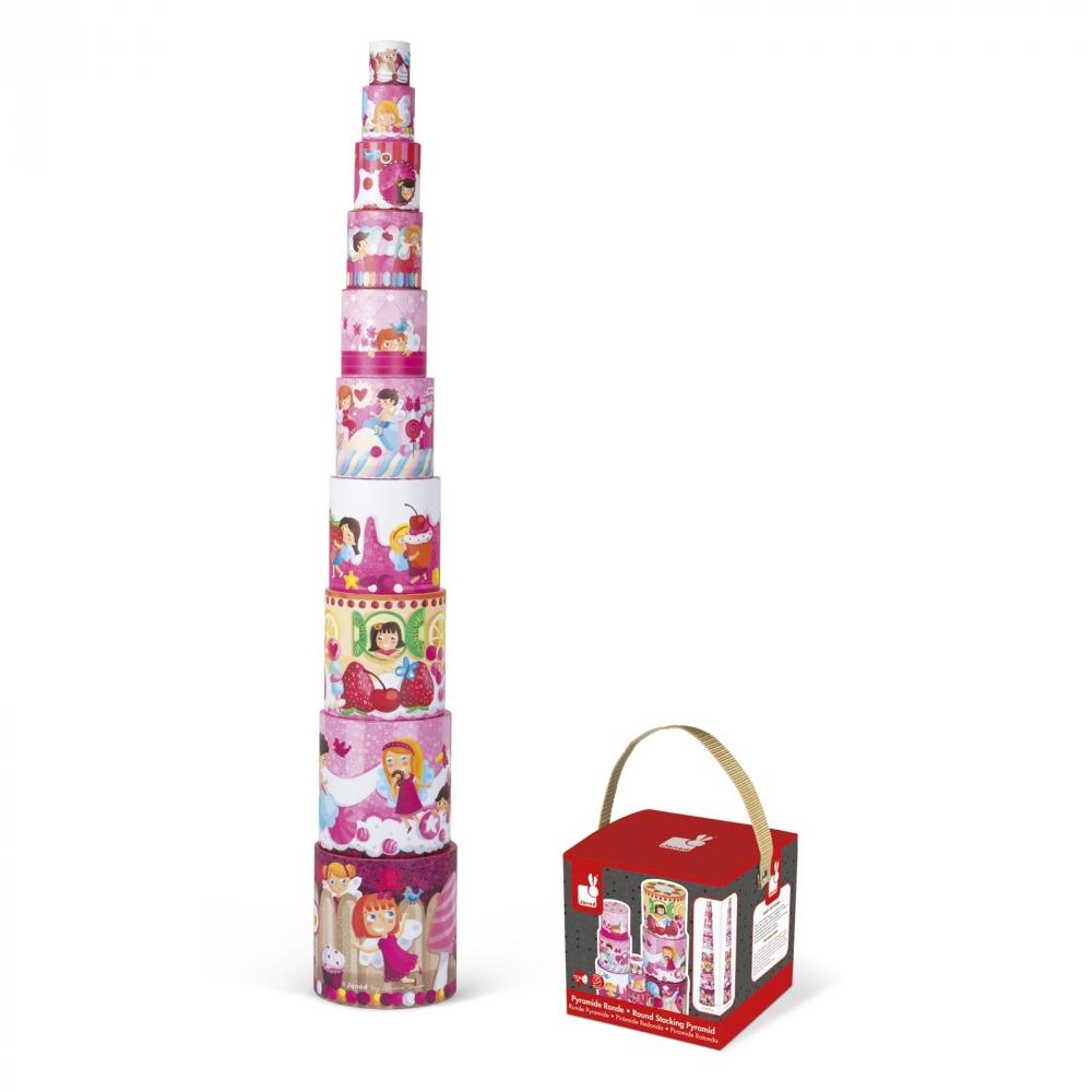 Кръгла пирамида от детски кубчета - Лакомства - детски играчки от Janod-bellamiestore