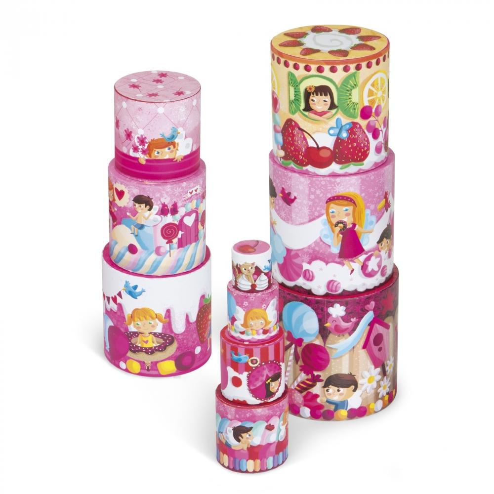 Кръгла пирамида от детски кубчета - Лакомства - детски играчки от Janod(1)-bellamiestore