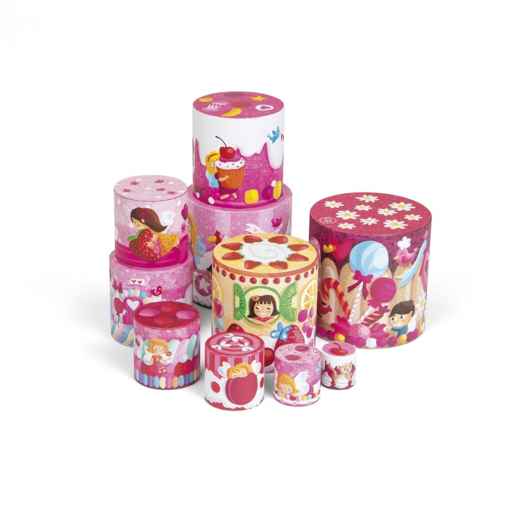 Кръгла пирамида от детски кубчета - Лакомства - детски играчки от Janod(2)-bellamiestore