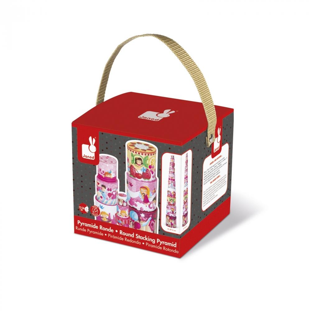 Кръгла пирамида от детски кубчета - Лакомства - детски играчки от Janod(3)-bellamiestore