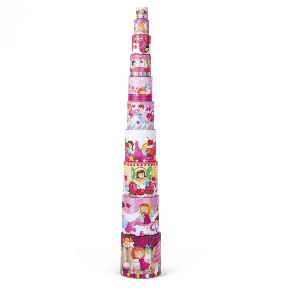Кръгла пирамида от детски кубчета - Лакомства - детски играчки от Janod(4)-bellamiestore