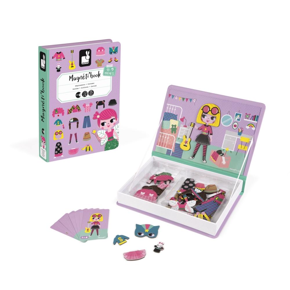 Магнитна образователна игра-облечи момичетата от Janod- детски играчки-bellamiestore