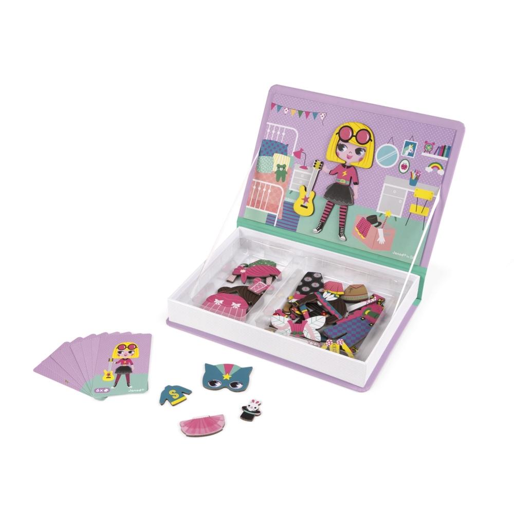 Магнитна образователна игра-облечи момичетата от Janod- детски играчки(5)-bellamiestore