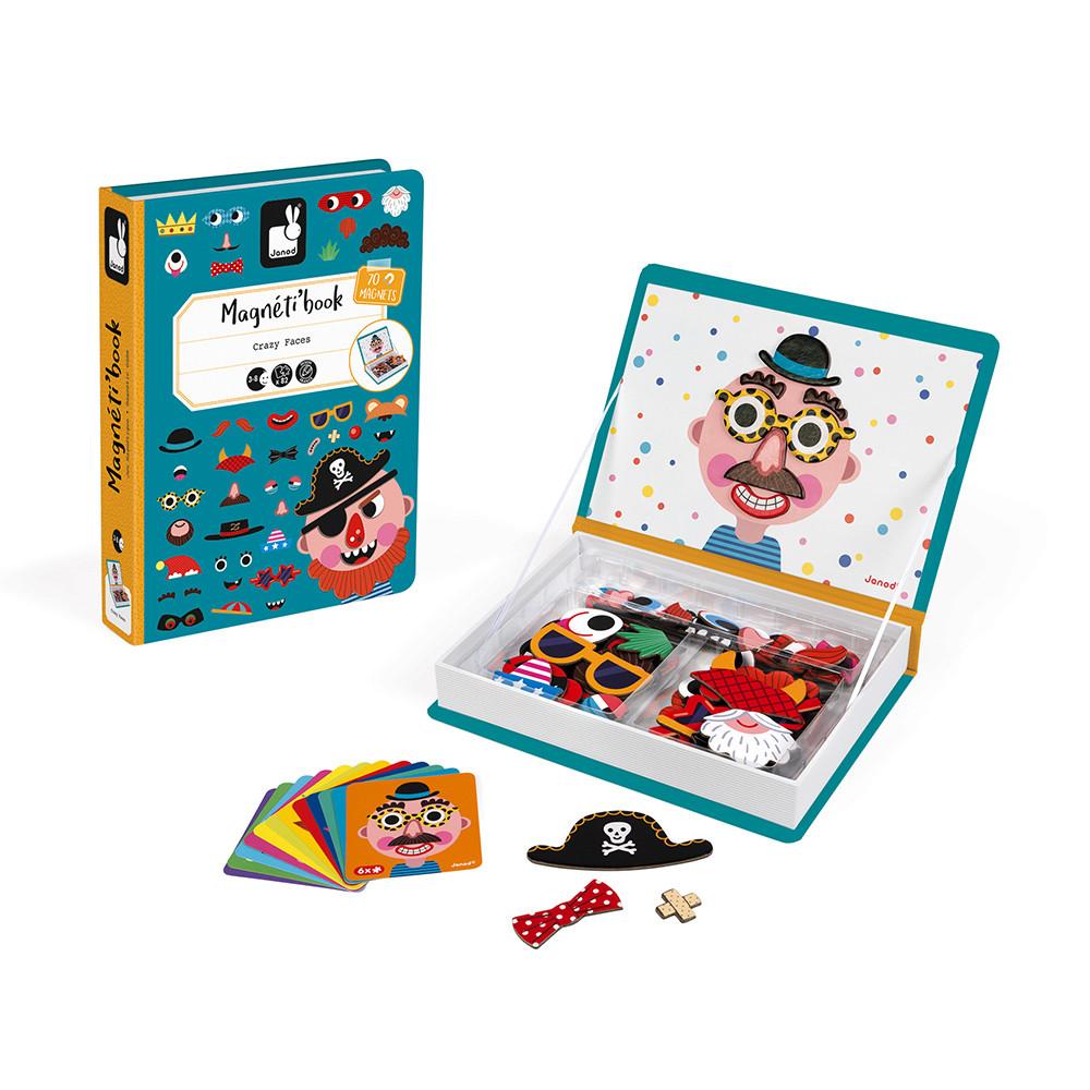 Магнитна образователна игра-смешни лица - детски играчки от Janod(2)-bellamiestore