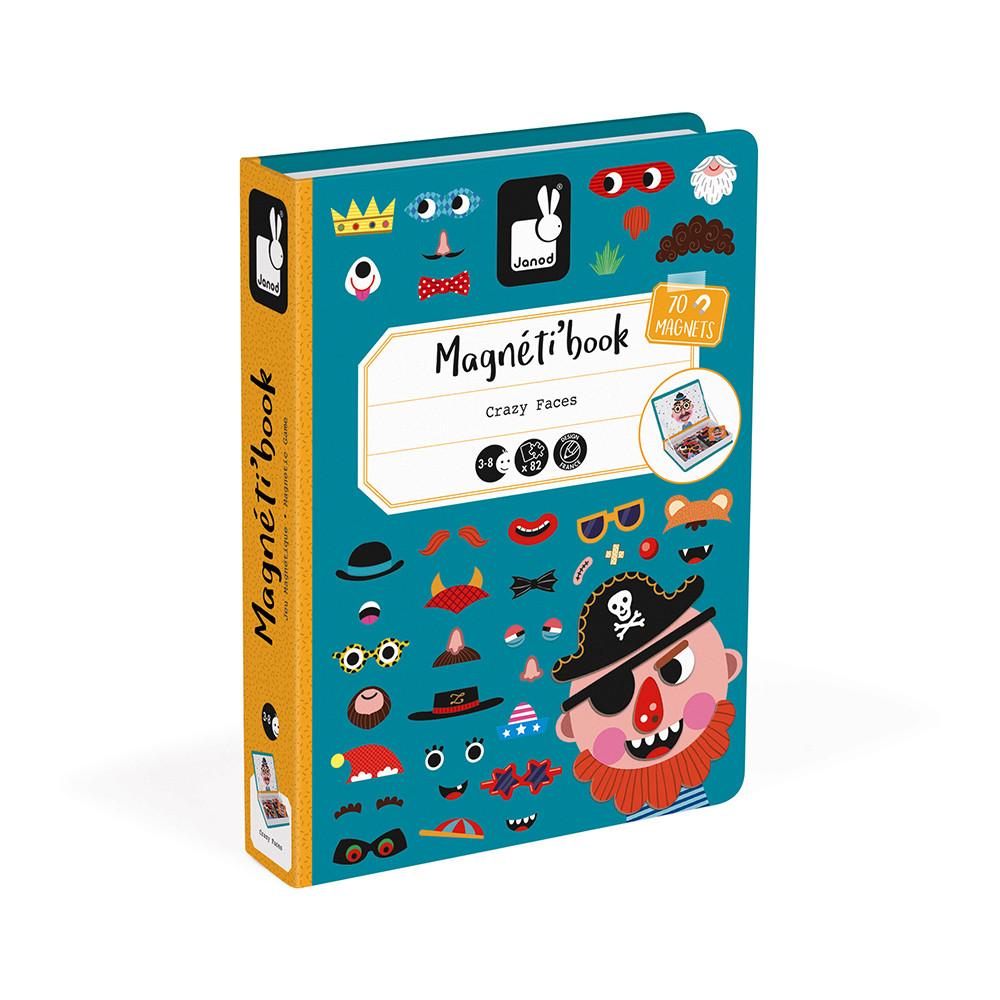 Магнитна образователна игра-смешни лица - детски играчки от Janod(3)-bellamiestore