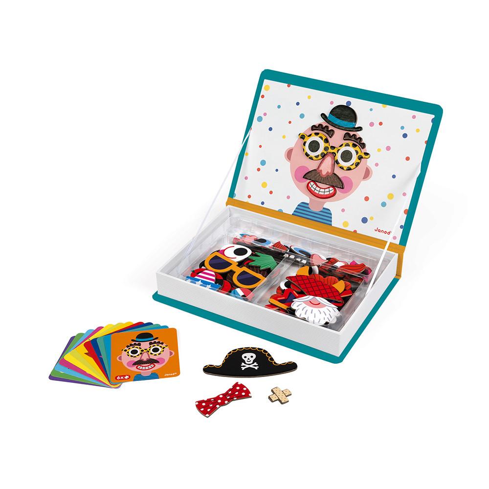 Магнитна образователна игра-смешни лица - детски играчки от Janod(4)-bellamiestore