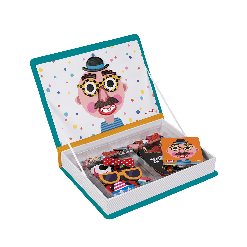 Магнитна образователна игра-смешни лица - детски играчки от Janod(5)-bellamiestore