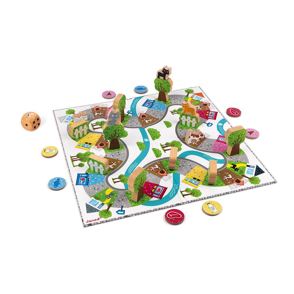 Настолна състезателна игра - Котки и кучета - детски образователни играчки от Janod (4)-bellamiestore