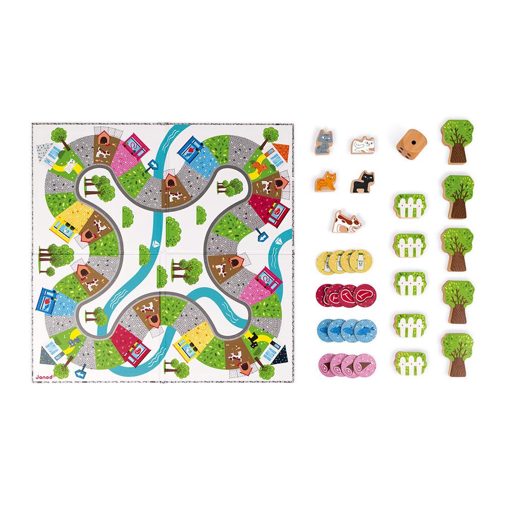 Настолна състезателна игра - Котки и кучета - детски образователни играчки от Janod-bellamiestore