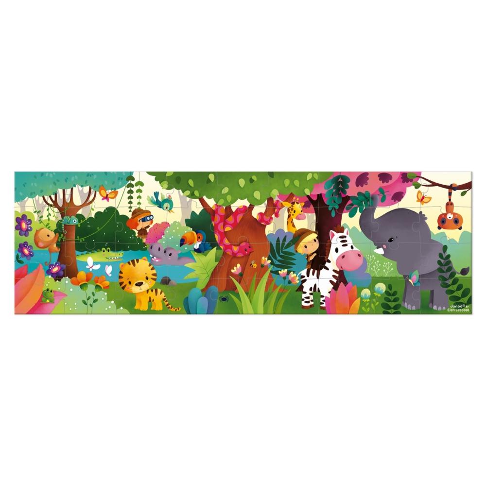 Панорамен детски пъзел - Сафари в куфар- детски играчки от Janod(1)-bellamiestore
