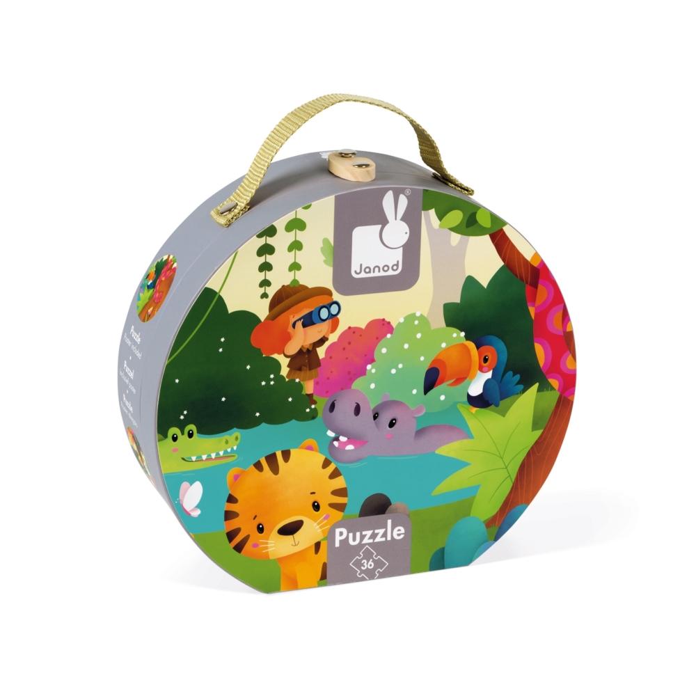 Панорамен детски пъзел - Сафари в куфар- детски играчки от Janod(2)-bellamiestore