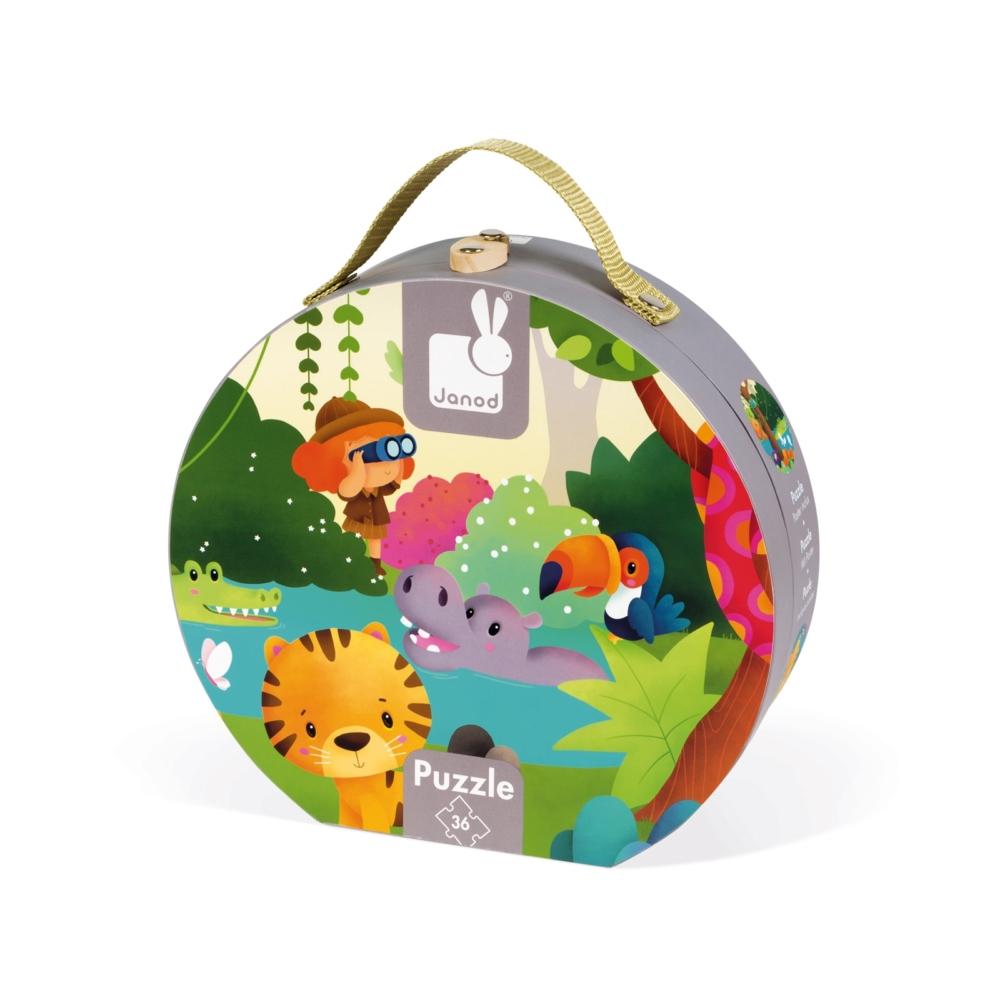Панорамен детски пъзел - Сафари в куфар- детски играчки от Janod(3)-bellamiestore