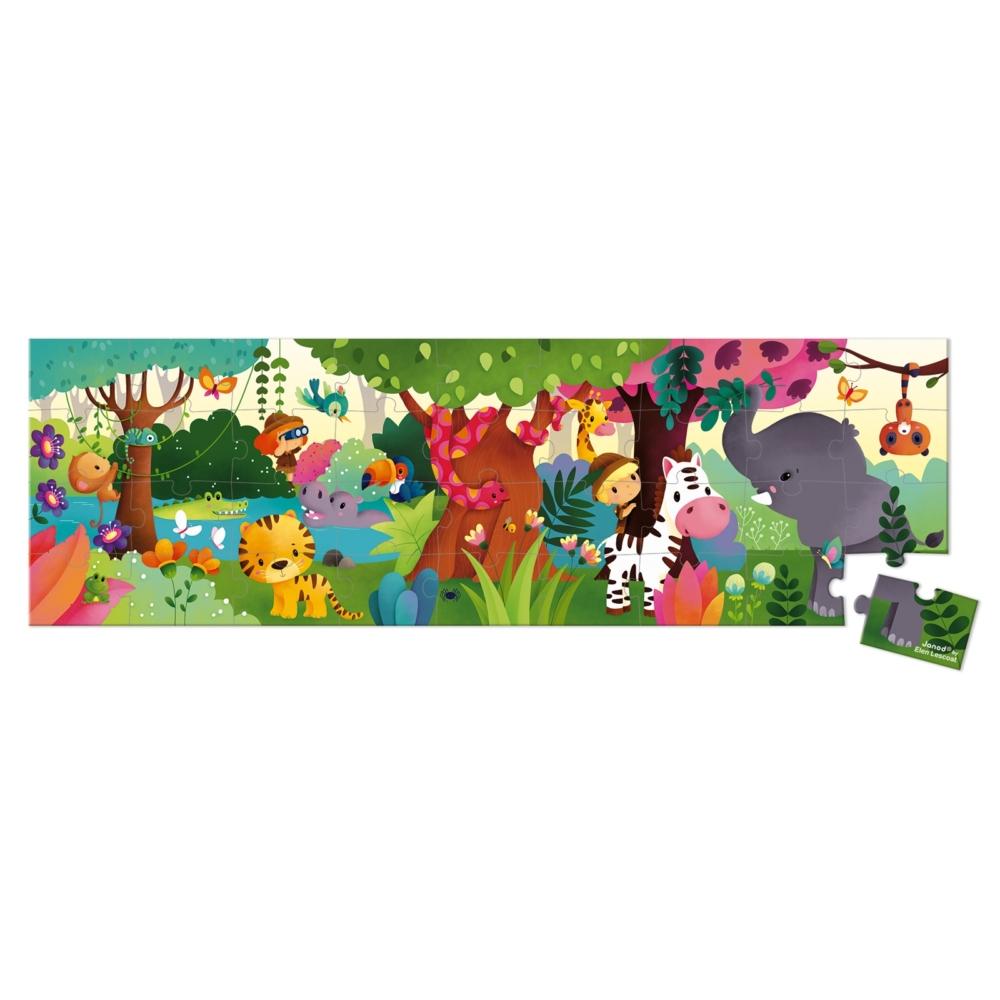 Панорамен детски пъзел - Сафари в куфар- детски играчки от Janod(4)-bellamiestore
