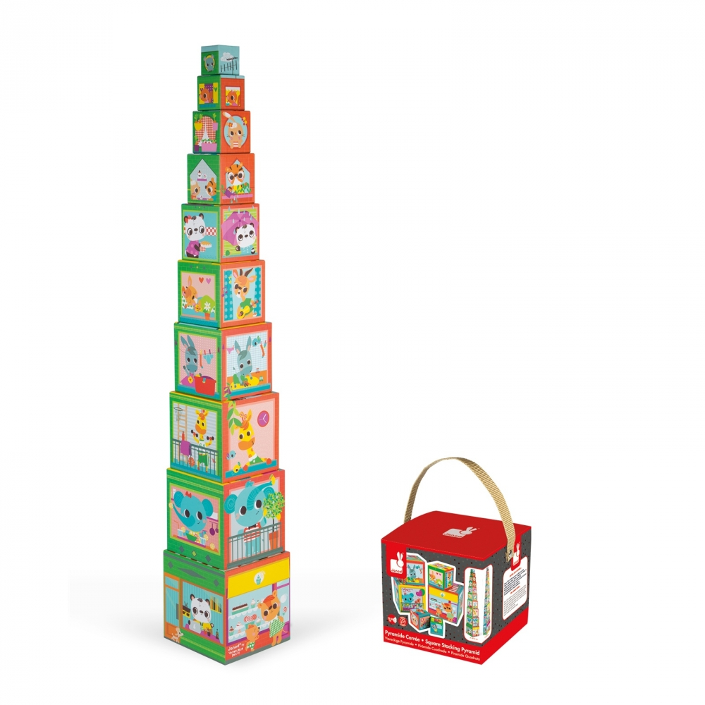 Пирамида от детски кубчета - Приятели в града от Janod - детски играчки(4)-bellamiestore