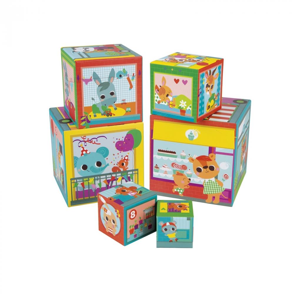 Пирамида от детски кубчета - Приятели в града от Janod - детски играчки(2)-bellamiestore