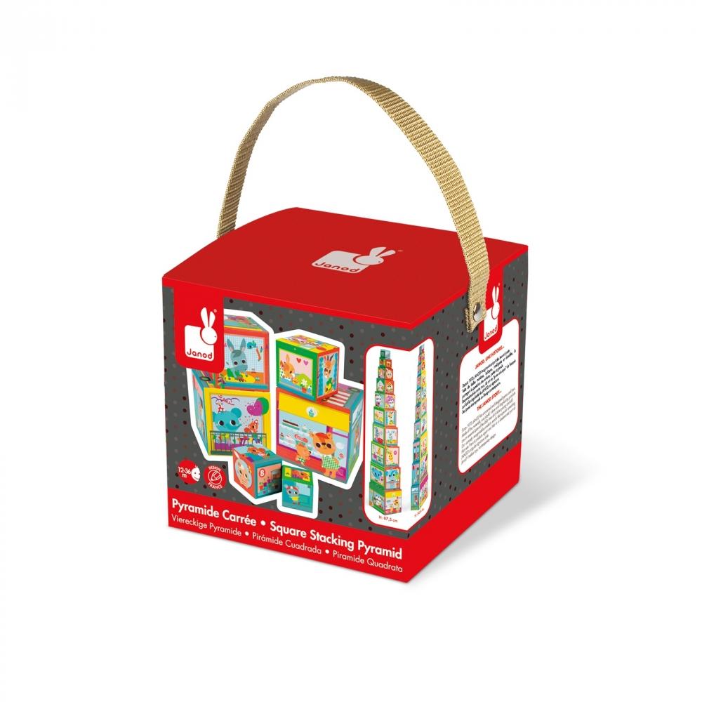 Пирамида от детски кубчета - Приятели в града от Janod - детски играчки(1)-bellamiestore