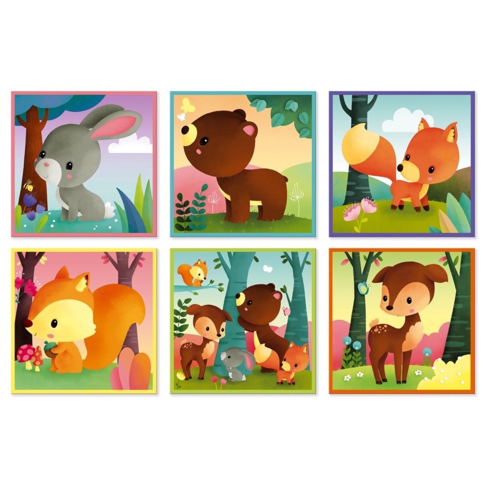 Детски пъзел от кубчета - Горските животни - Детски играчки от Janod(4)-bellamiestore