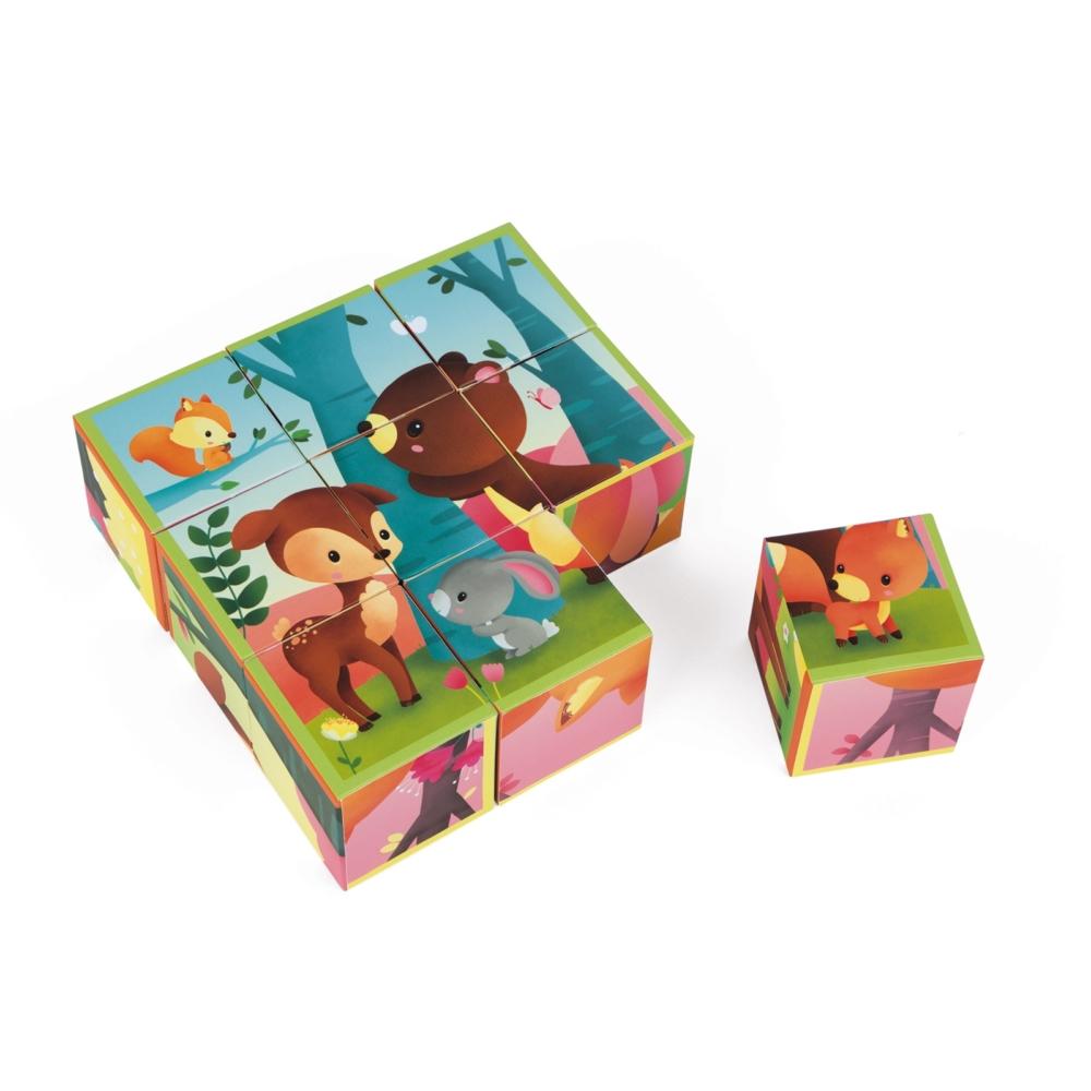 Детски пъзел от кубчета - Горските животни - Детски играчки от Janod(1)-bellamiestore