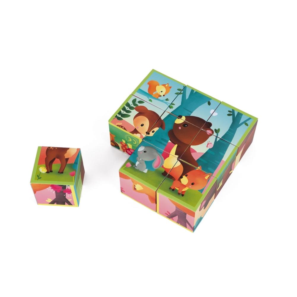 Детски пъзел от кубчета - Горските животни - Детски играчки от Janod-bellamiestore