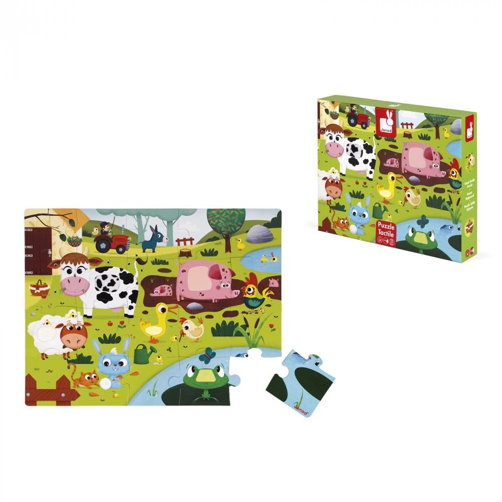 Пъзел за деца осезание - Живота в фермата - детски играчки от Janod-bellamiestore