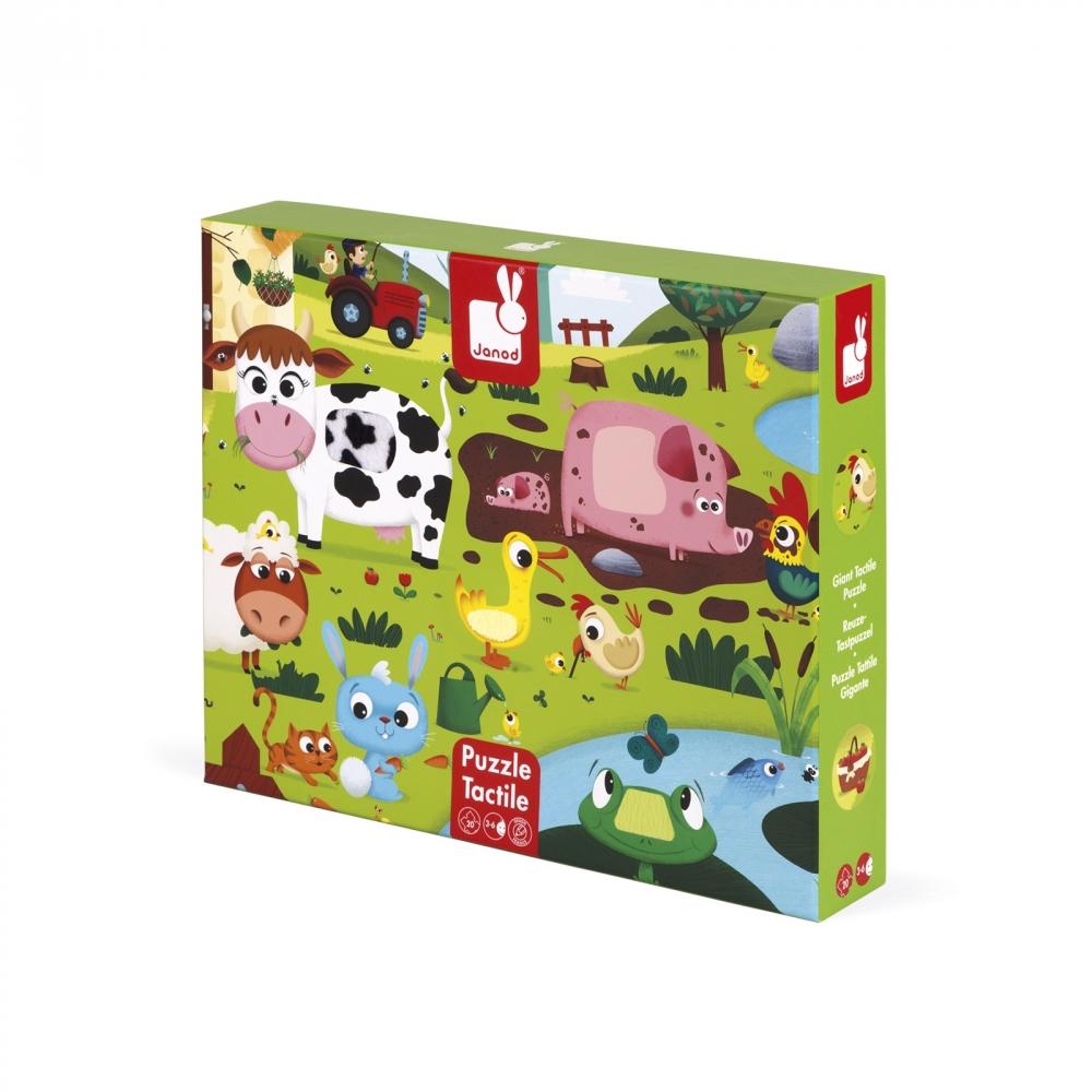 Пъзел за деца осезание - Живота в фермата - детски играчки от Janod(3)-bellamiestore