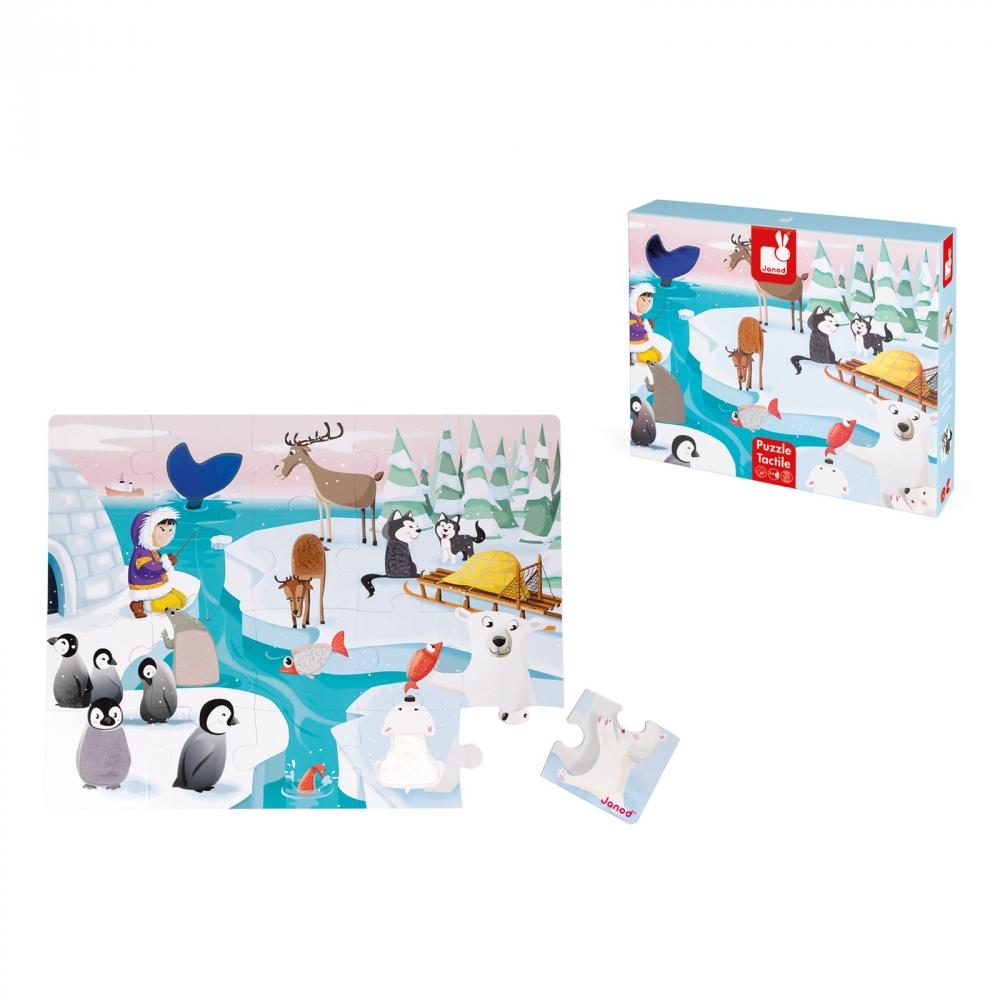 Пъзел за деца осезание - Живота в леда - детски играчки от Janod-bellamiestore