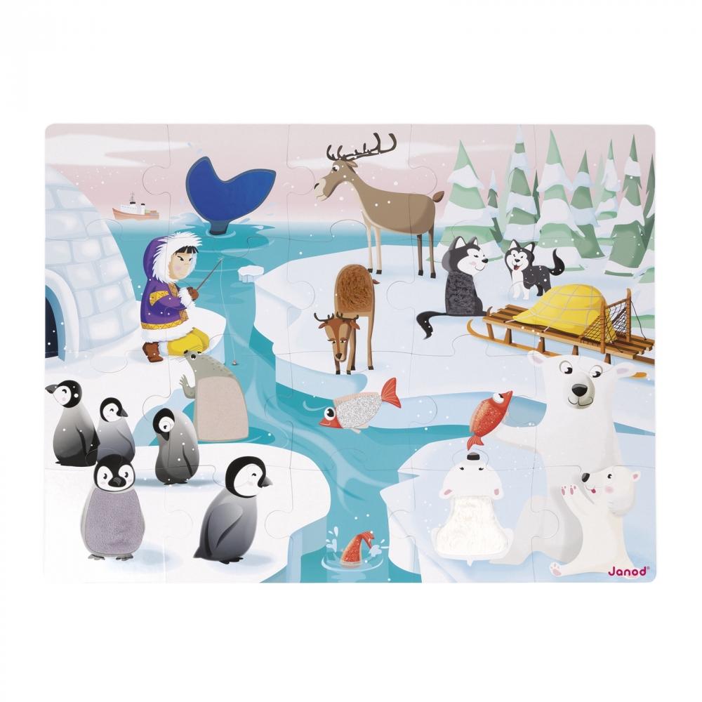 Пъзел за деца осезание - Живота в леда - детски играчки от Janod(1)-bellamiestore