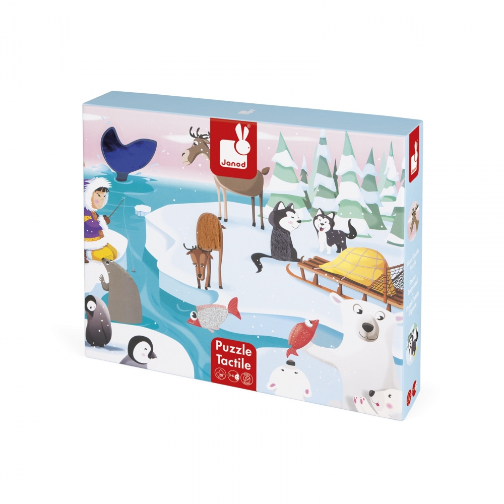 Пъзел за деца осезание - Живота в леда - детски играчки от Janod(3)-bellamiestore