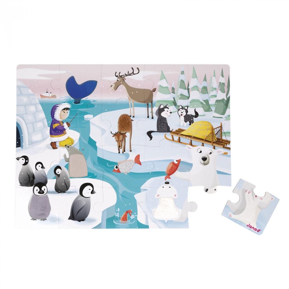Пъзел за деца осезание - Живота в леда - детски играчки от Janod(4)-bellamiestore