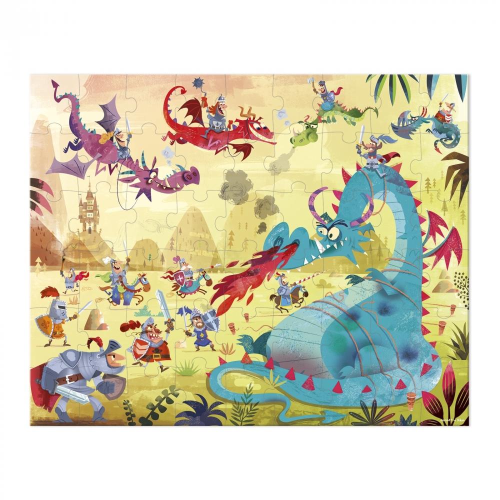 Пъзел за деца в куфар - Дракони от 54 части- детски играчки от Janod(1)-bellamiestore