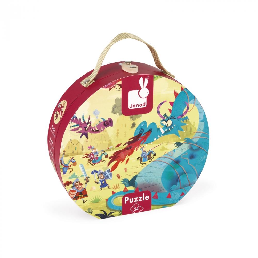 Пъзел за деца в куфар - Дракони от 54 части- детски играчки от Janod(2)-bellamiestore
