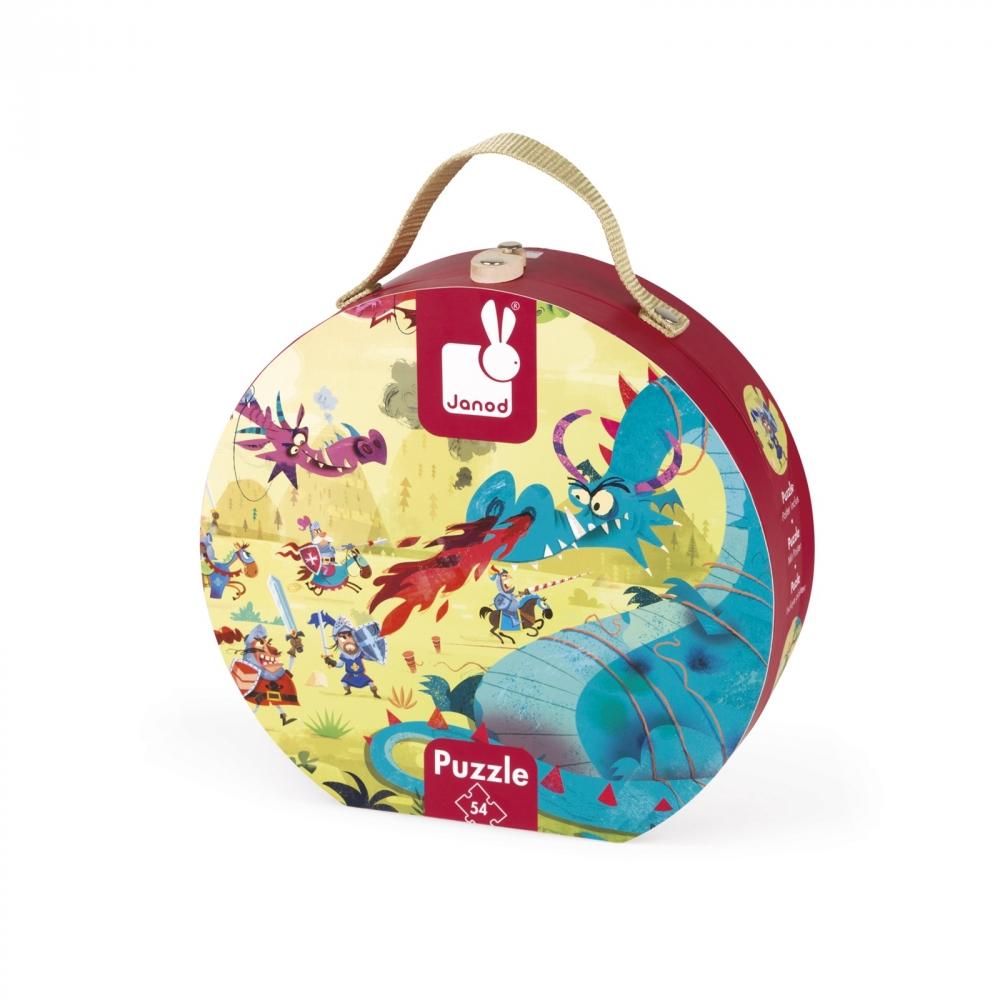 Пъзел за деца в куфар - Дракони от 54 части- детски играчки от Janod(3)-bellamiestore