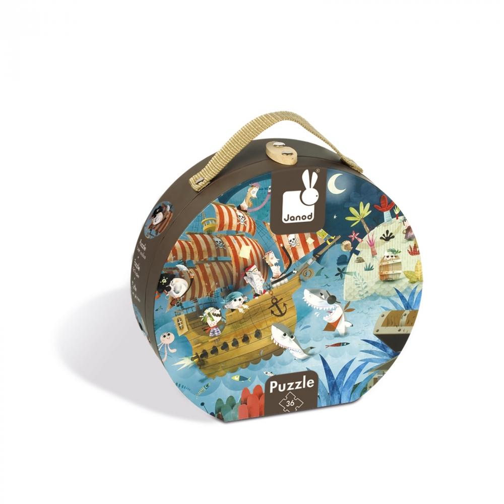 Пъзел за деца в куфар - На лов за съкровища от 36 части - Детски играчки за момчета -Janod(1)-bellamiestore