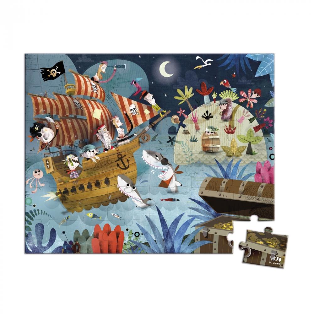 Пъзел за деца в куфар - На лов за съкровища от 36 части - Детски играчки за момчета -Janod(2)-bellamiestore