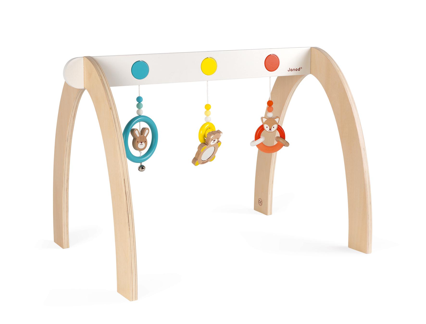 Активна гимнастика от дърво - бебешка играчка от Janod(1)-bellamiestore