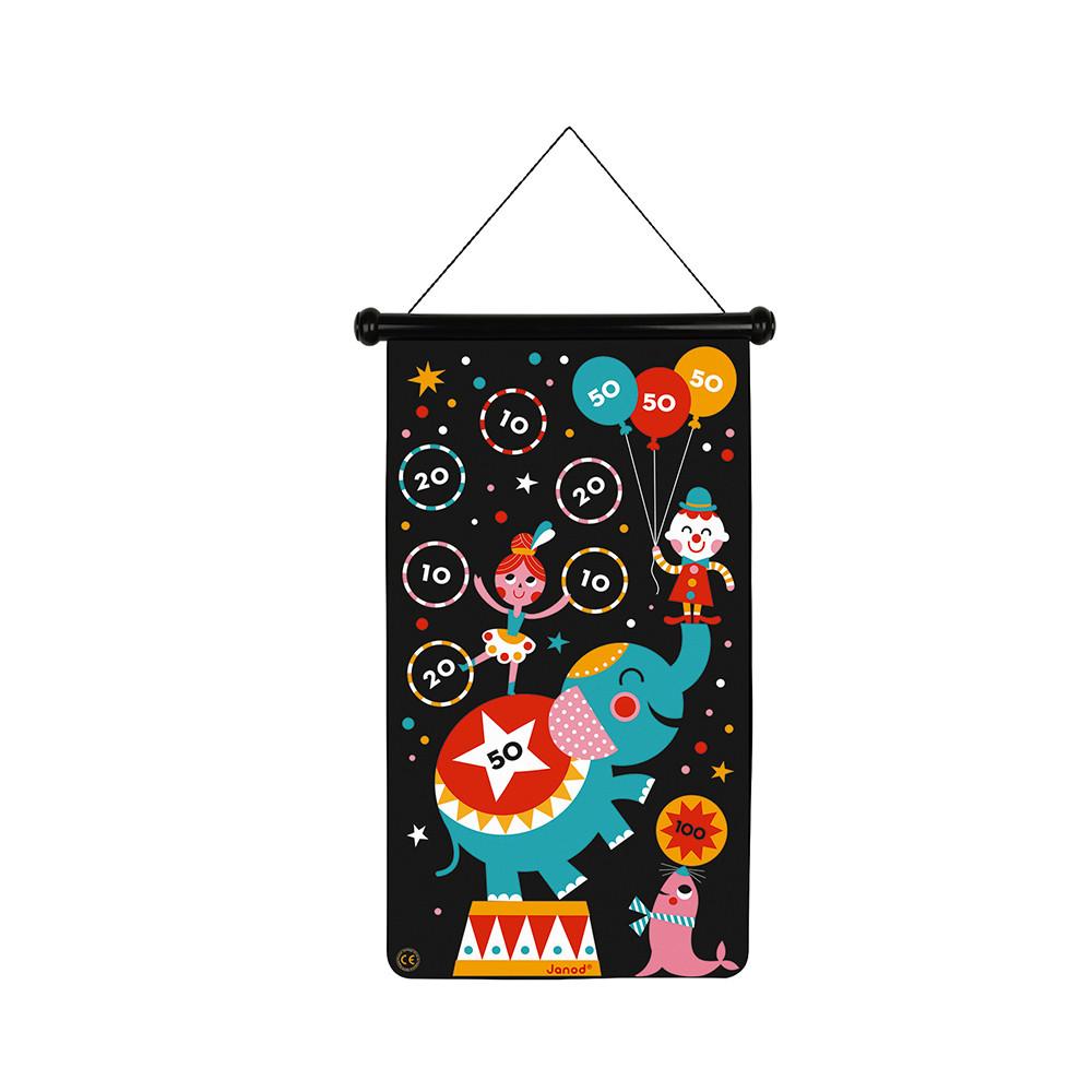 Детски образователни играчки - Магнитен дартс-Цирк от Janod-bellamiestore