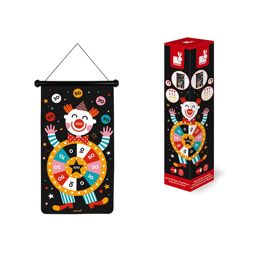 Детски образователни играчки - Магнитен дартс-Цирк от Janod(4)-bellamiestore