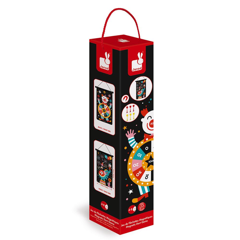 Детски образователни играчки - Магнитен дартс-Цирк от Janod(2)-bellamiestore