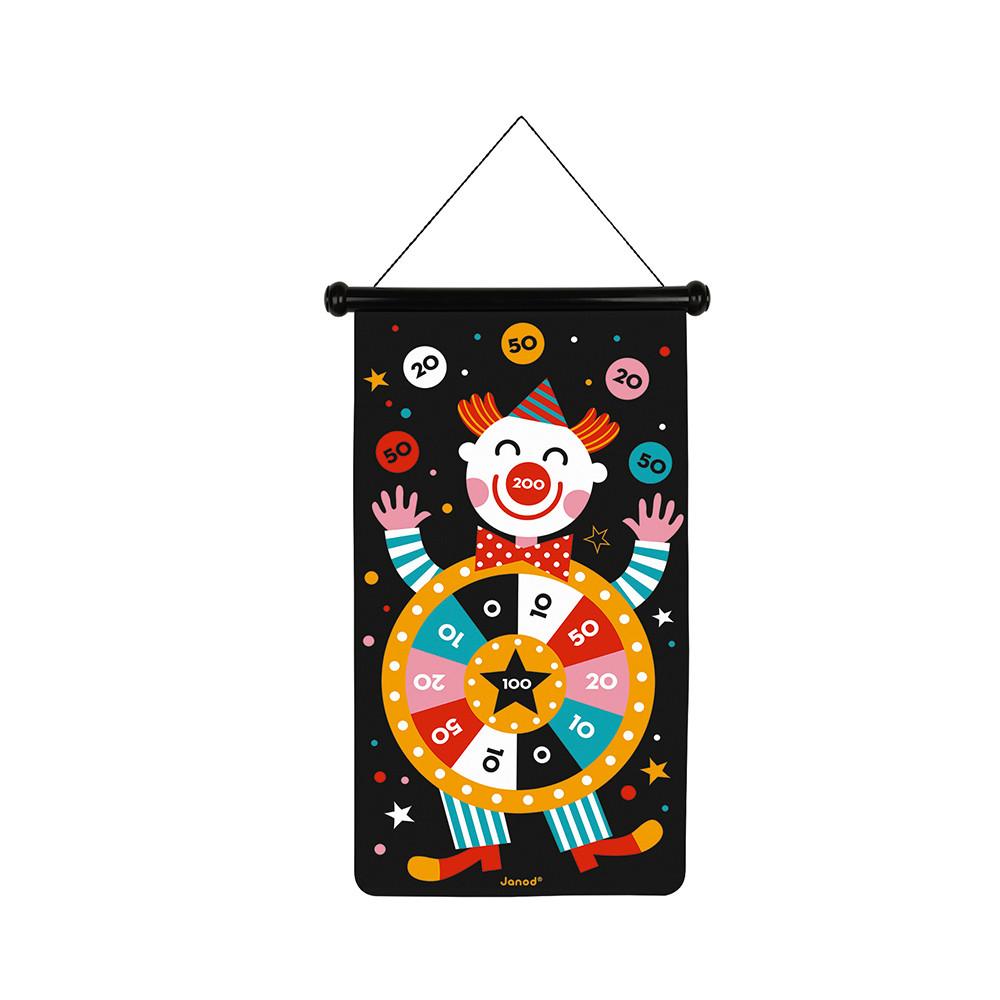 Детски образователни играчки - Магнитен дартс-Цирк от Janod(1)-bellamiestore
