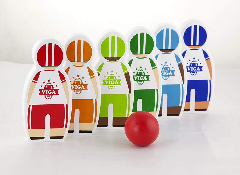 Детски боулинг - дървена играчка от Viga toys(1)-bellamiestore