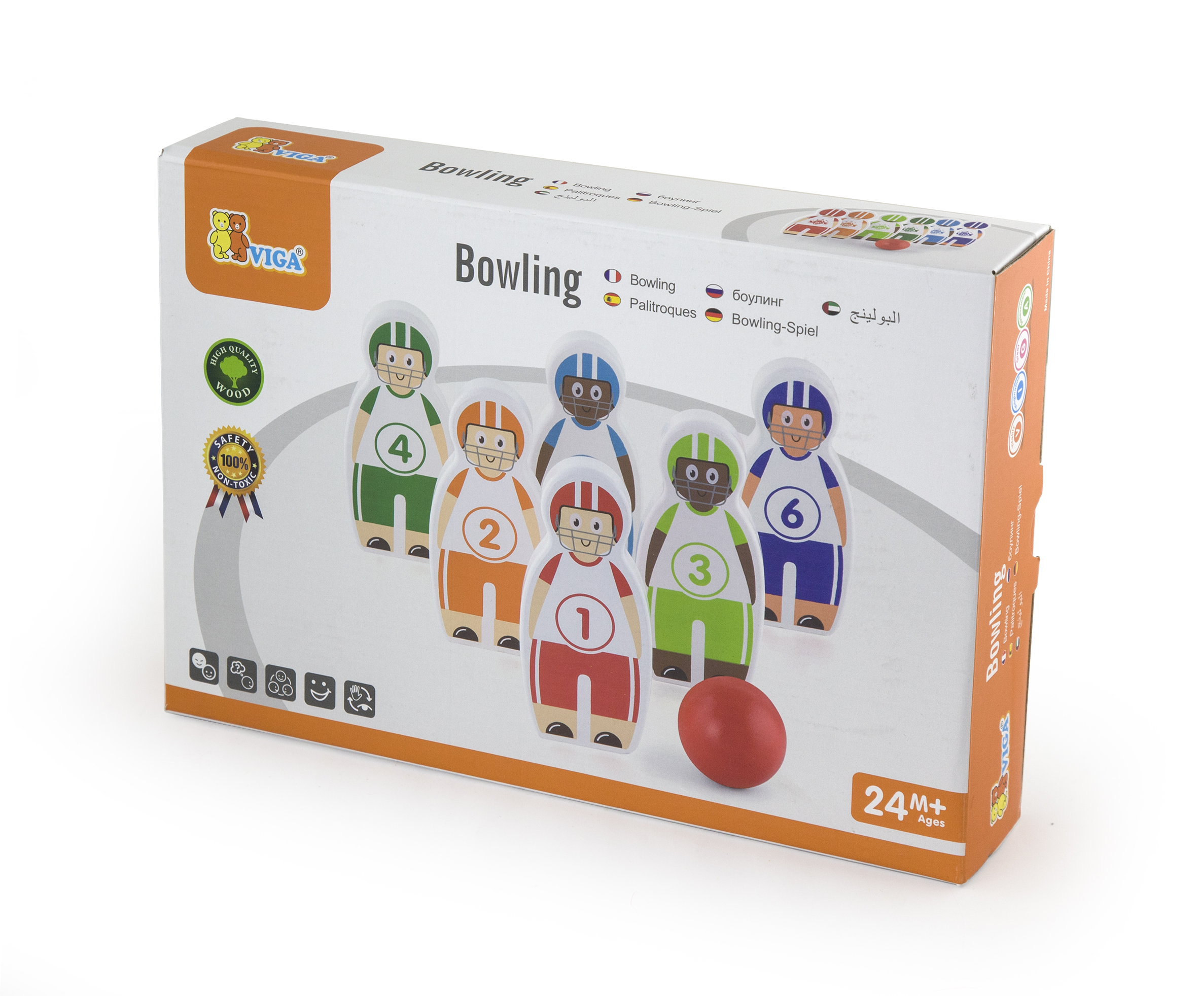 Детски боулинг - дървена играчка от Viga toys(2)-bellamiestore