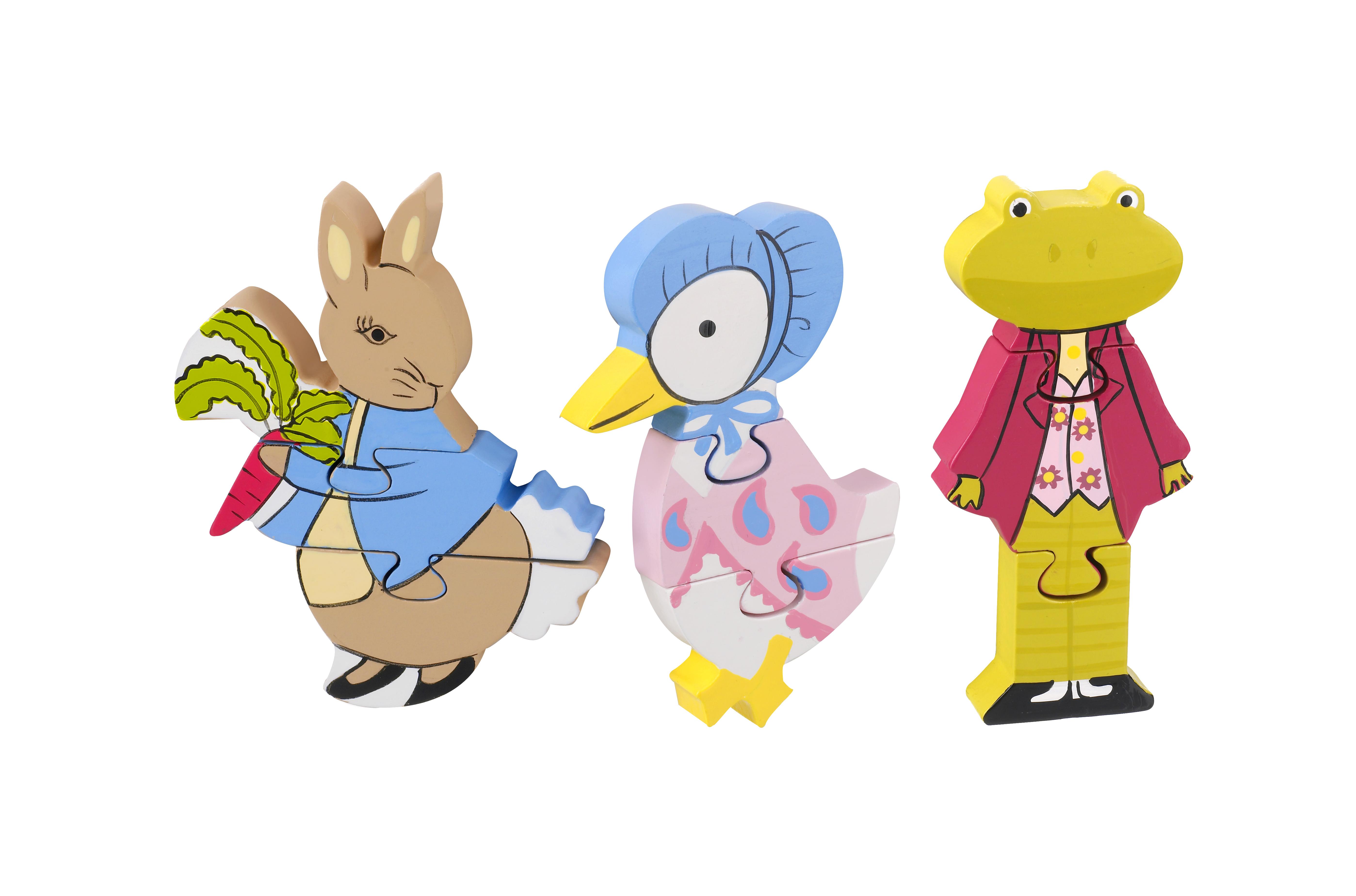 Детски пъзел от дърво - Зайчето Питър и приятели - бебешки играчки от Orange tree toys(1)-bellamiestore