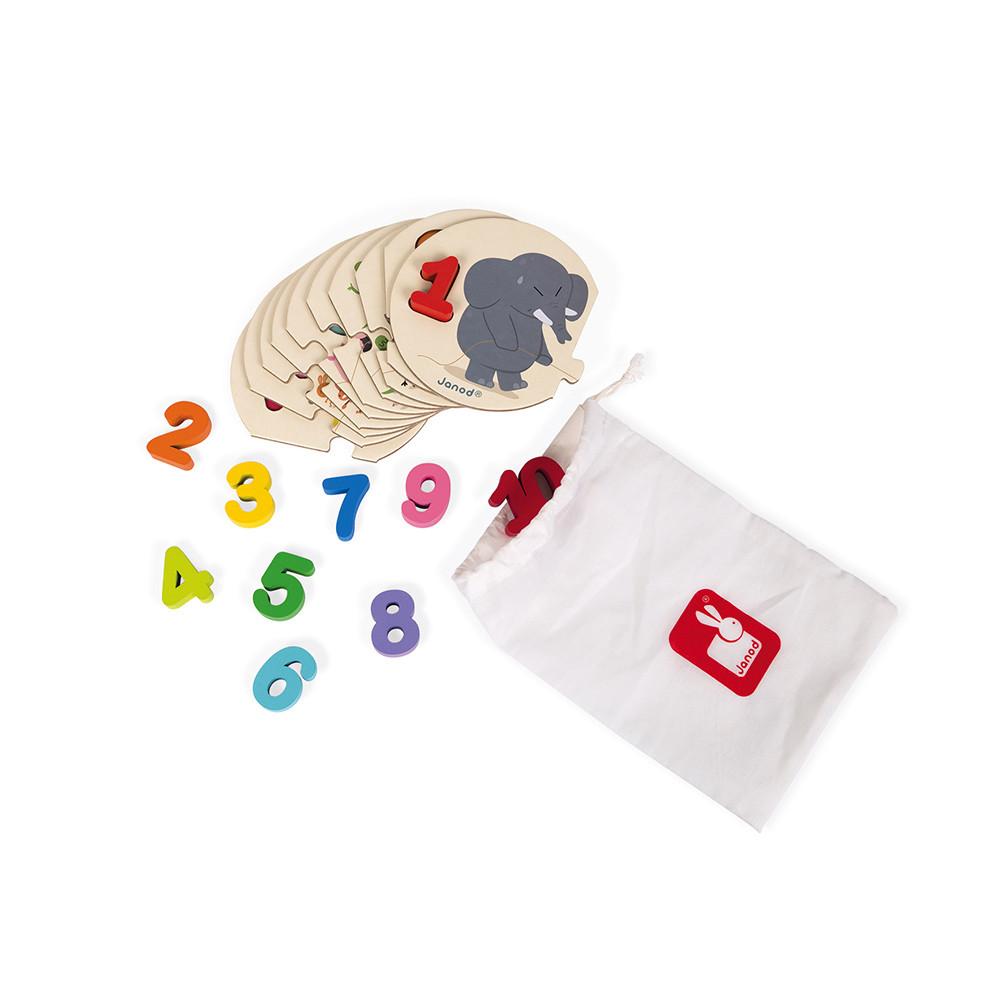 Детски пъзел с дървени цифри - Уча се да броя -Janod(1)-bellamiestore