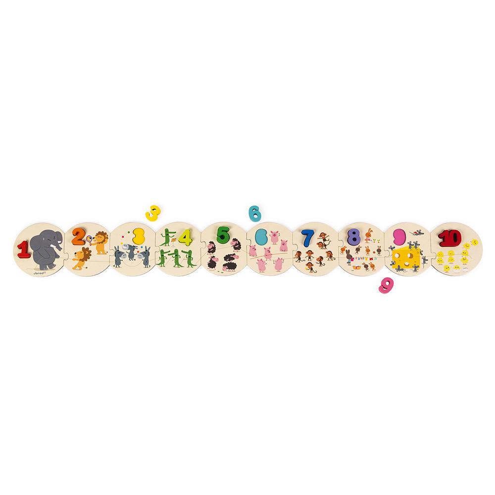 Детски пъзел с дървени цифри - Уча се да броя -Janod(5)-bellamiestore