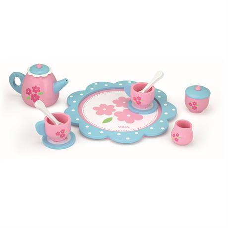 Детски сервиз за кафе- дървена играчка от Viga toys-bellamiestore