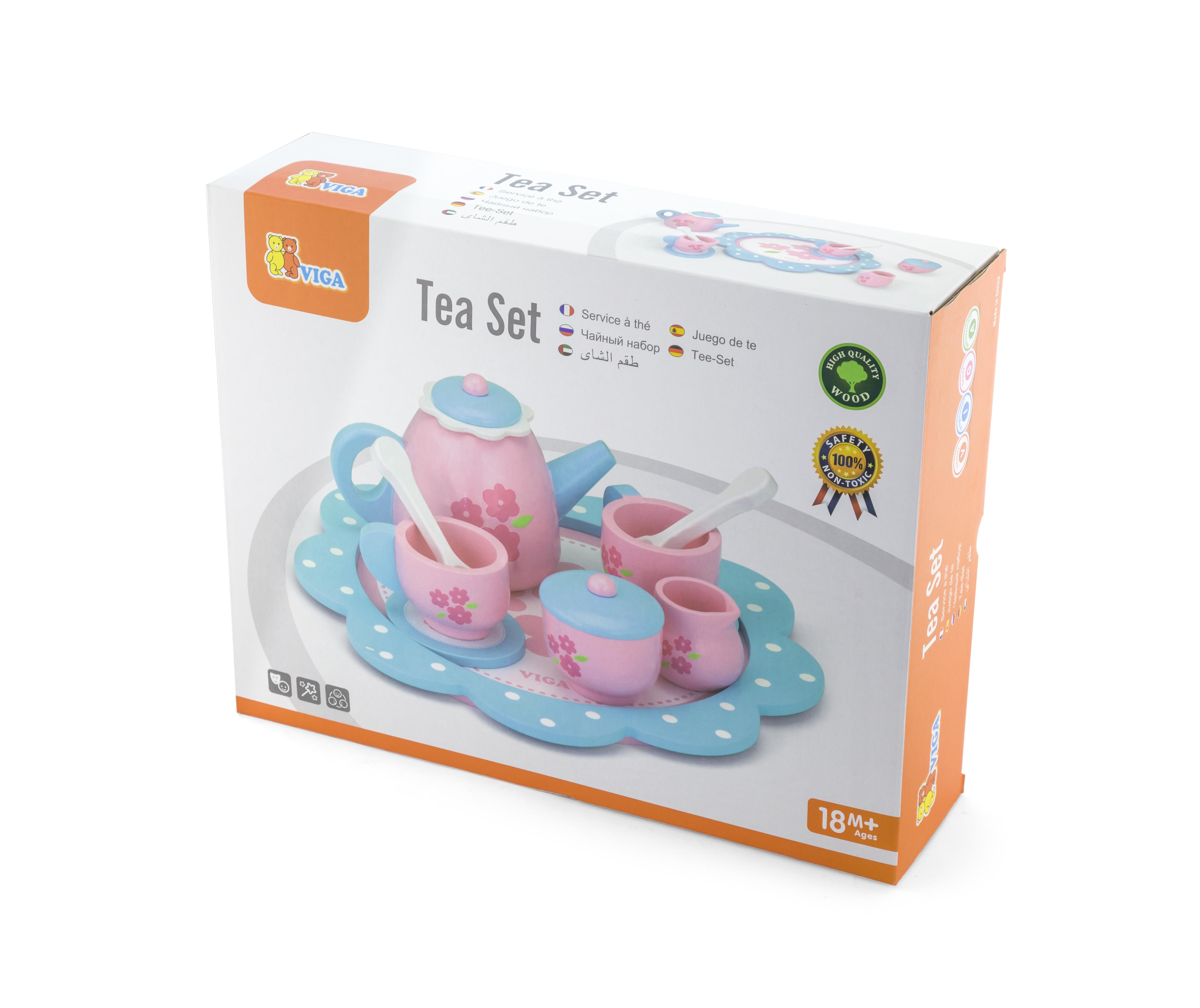 Детски сервиз за кафе- дървена играчка от Viga toys(2)-bellamiestore