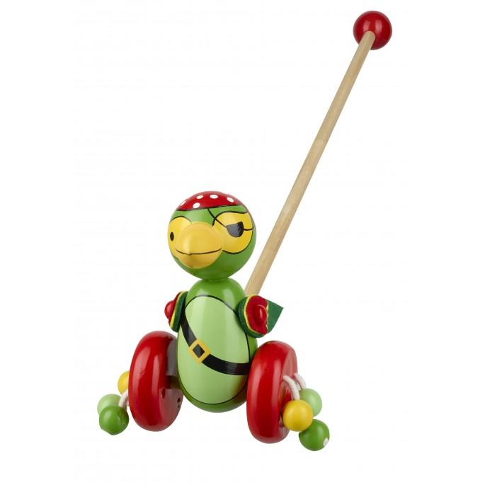 Дървена буталка - Папагал пират - бебешки дървени играчки от Orange tree toys-bellamiestore