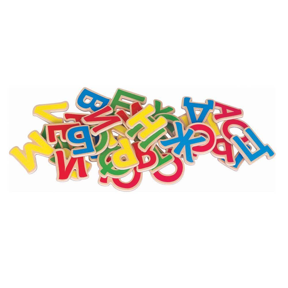 Дървени магнитни букви- българската азбука - образователни играчки от Беллами-bellamiestore