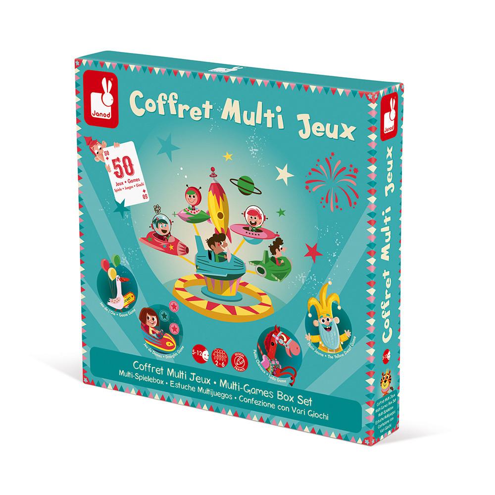 Кутия с 50 настолни състезателни игри- детски образователни играчки от Janod(2)-bellamiestore