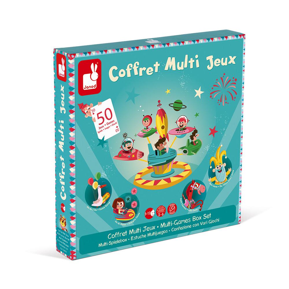 Кутия с 50 настолни състезателни игри- детски образователни играчки от Janod(1)-bellamiestore